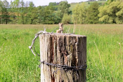 pile fence fence post