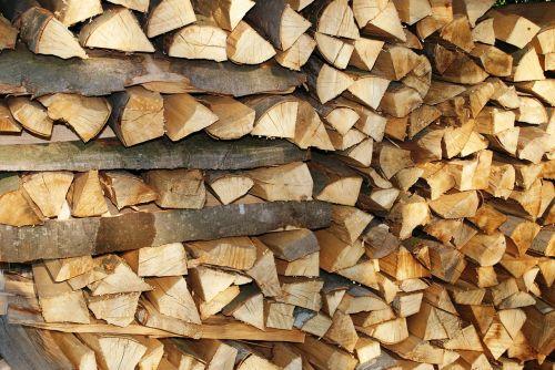 pile firewood lumber