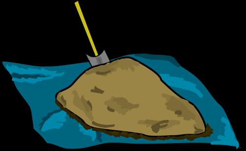 pile of dirt mound of dirt tarp