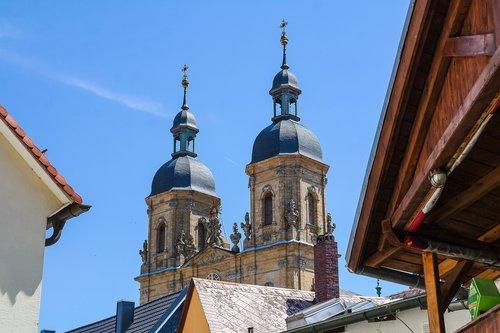 pilgrimage basilica  pilgrimage church  church steeples