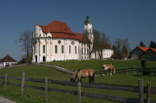 pilgrimage church of wies steingaden pfaffenwinkel