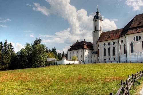 pilgrimage church of wies  bavaria  rococo
