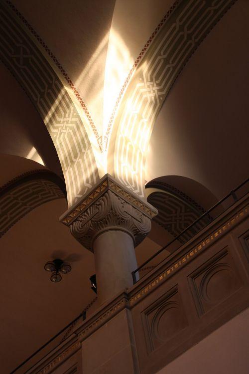 pillar construction art synagogue