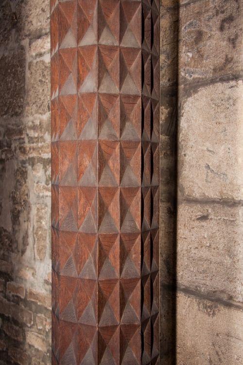 pillar wood carved