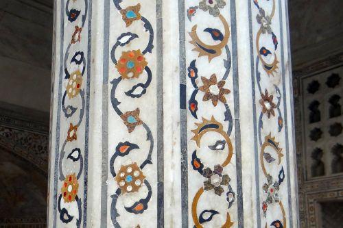 pillar interior marble inlay