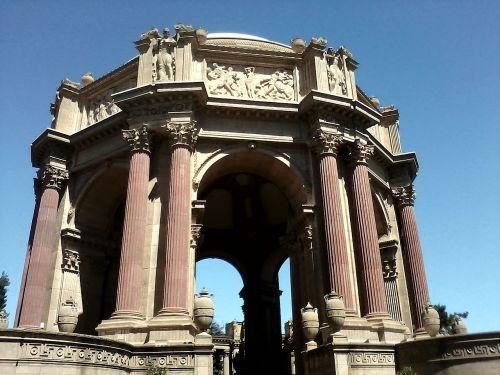 pillars elaborate palace of fine arts