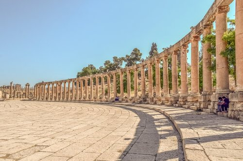 pillars  colonnade  stone