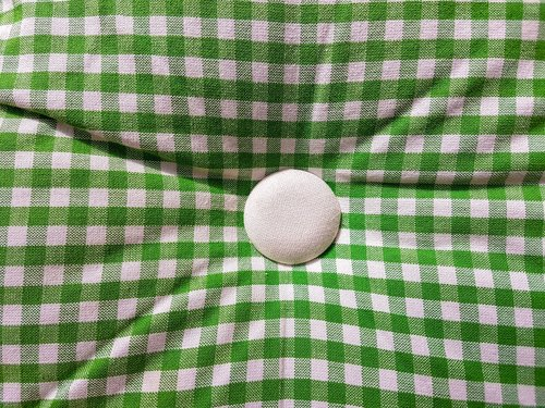 pillow  green  checked