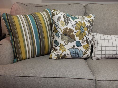 pillows sofa couch
