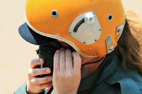 Pilot Adjusting Oxygen Mask