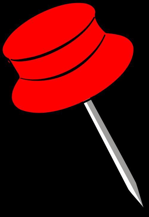 pin red pin pushpin