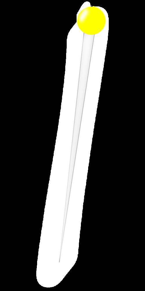 pin steel sharp