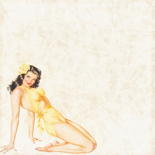 pin up girl  background paper  scrapbooking
