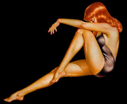 pin up girl  redhead  woman