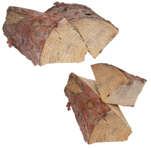 pine wood chips logs