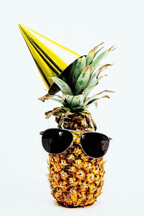 pineapple  pineapples  party hats
