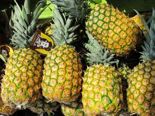 pineapples farmers market produce