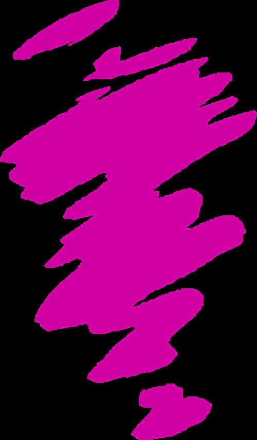 pink splash lines