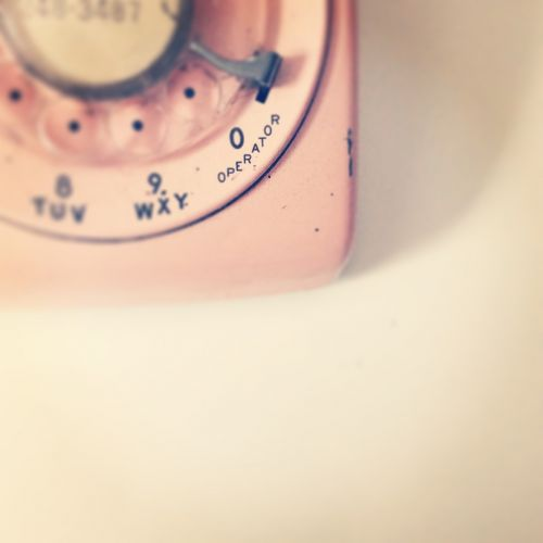pink telephone communication