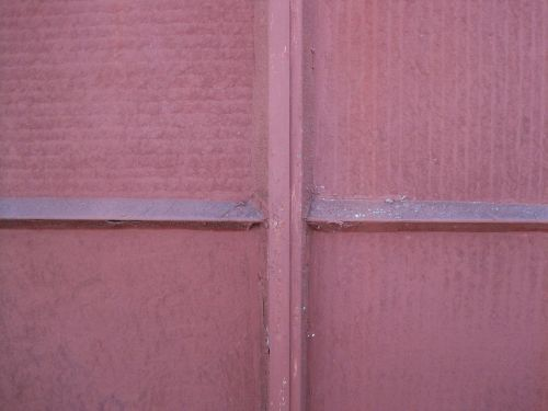 pink entirely covered painted over solidly