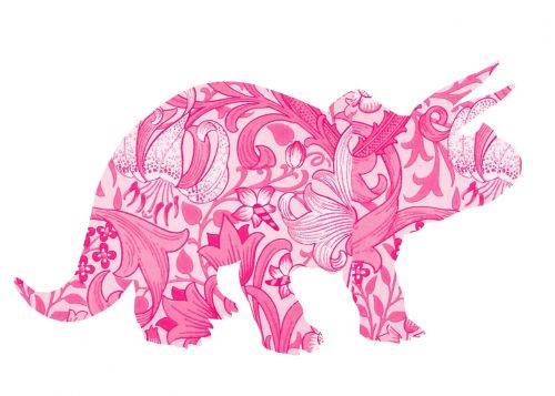 pink dinosaur girl