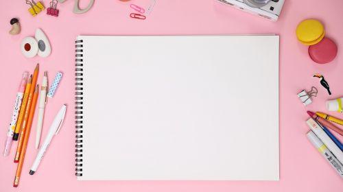 pink macaroon sketchbook