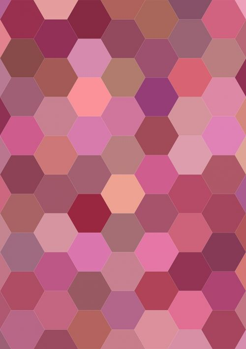 pink hexagon pattern hexagon