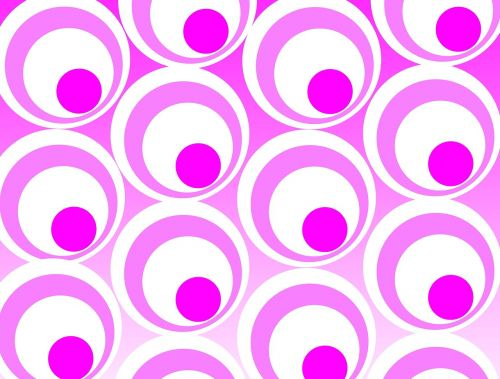 pink background circles