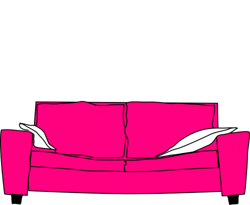 pink furniture couch