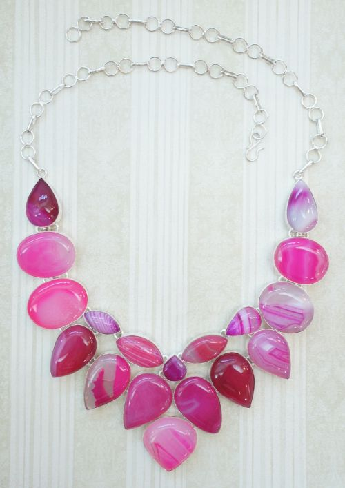 pink hot pink agate
