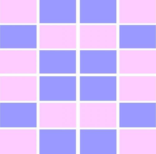 pink blue white