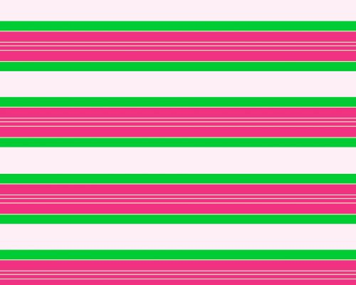 Pink & Green Stripes