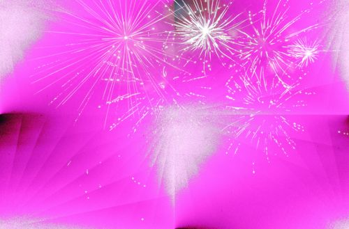 Pink And White Firework Wallpaper