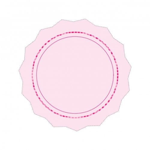 Pink Badge Or Doily