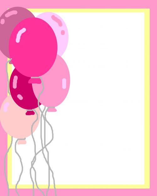 Pink Balloons Invite