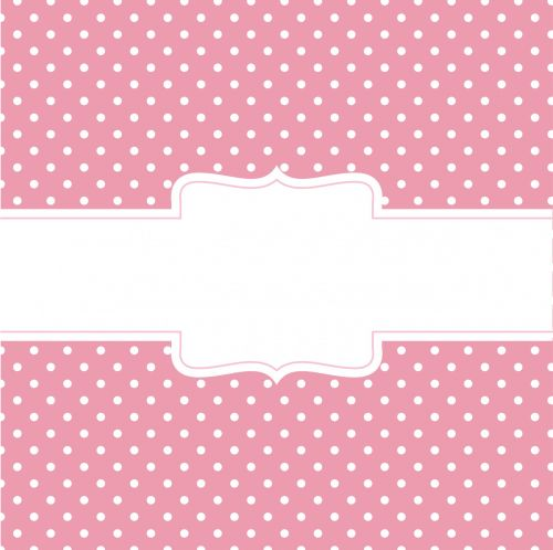Pink Card With Banner