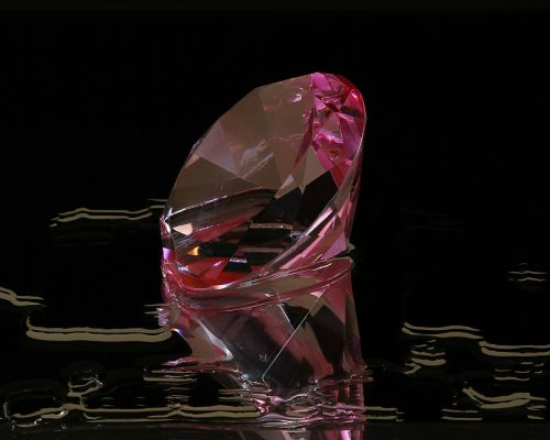 pink diamond round cut gem