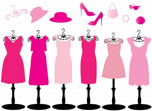 Pink Dresses & Accessories