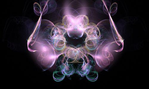 fraktalas, rožinis, mėlynas, žalias, abstraktus, fantazija, rožinė fantazija