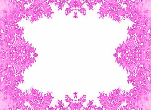 kortelė, balta, įrėminti, lapija, rožinis, rožinė lapija rėmas