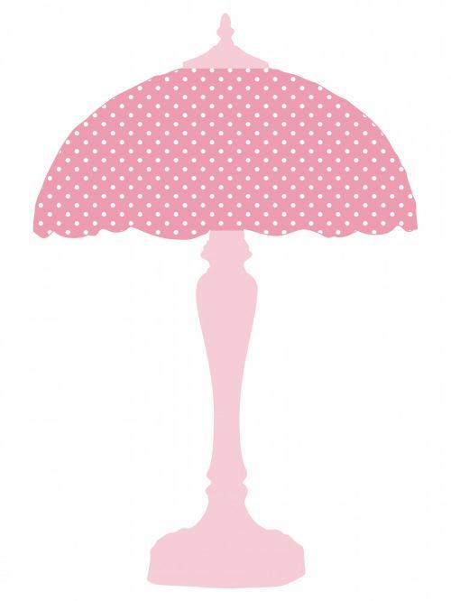 Pink Polka Dots Lamp Shade