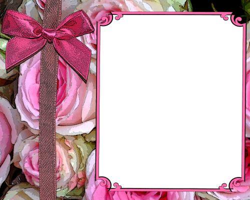 rožinis, rožė, gėlių, kvietimas, mergaitė, kortelė, fonas, iškarpų albumas, rožinis rožinis pakvietimas