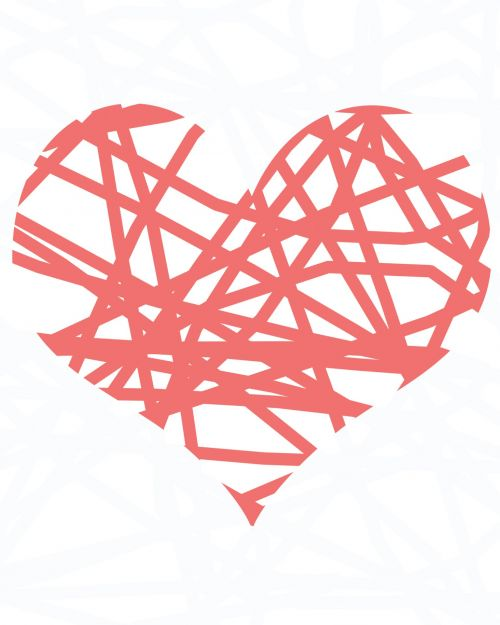 Pink Scribble Heart