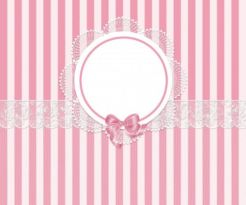 Pink Stripes And Lace Background