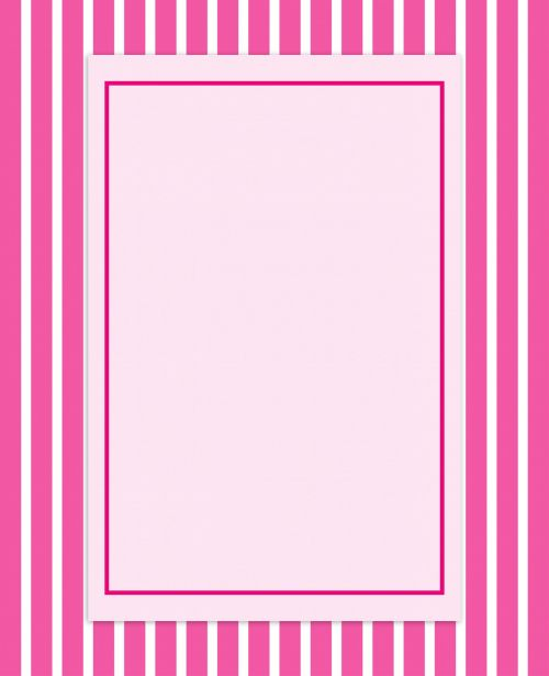 Pink Stripes Invitation Card