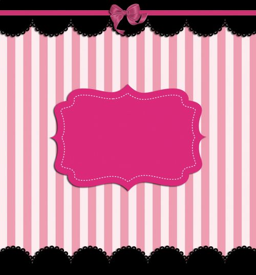 Pink Stripes With Fancy Border