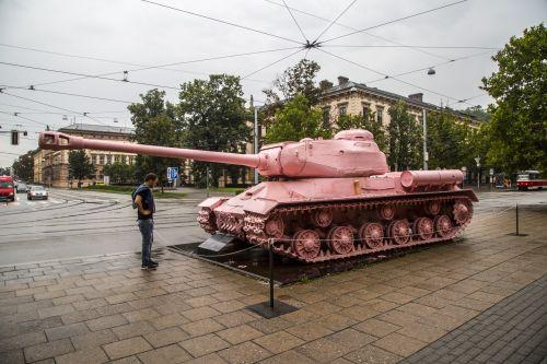 Pink Tank In Brno