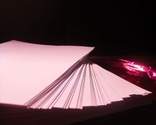 Pink Tinted Ream Of Paper