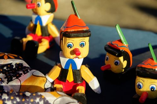 pinocchio figurines wood