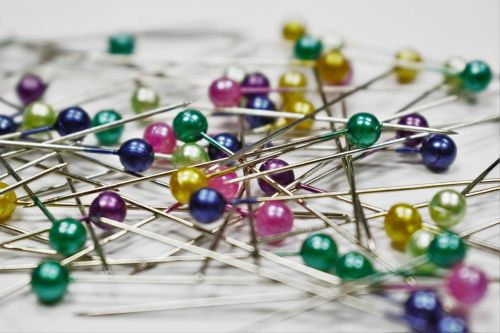 pins colored pins scattered